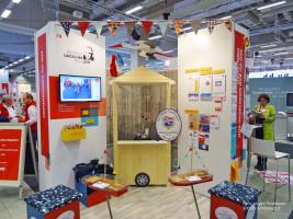 Unser Stand im Ausstellungs- und Messebereich des Parteitages