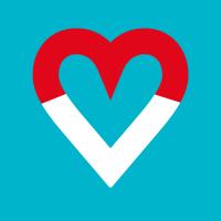 Herz (MStfV) auf blauem Grund