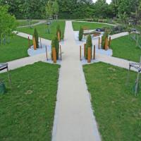 Neues Urnengrabfeld auf dem neuen Friedhof