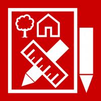 "Rotes Piktogramm ""Dorfentwicklung"""