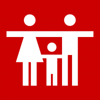"Rotes Piktogramm ""Familie"""