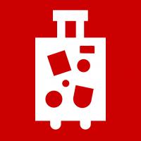 "Rotes Piktogramm ""Reisekoffer"""