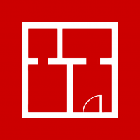 "Rotes Piktogramm ""Wohnraum"""