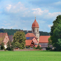 Ammerndorf, Kirchturm, Südwestansicht